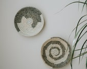 Set of 2 Wall Baskets, Wall Basket Decor, Woven seagrass basket, Boho Wall Decor, Wall Hanging Basket, African Basket set, rattan basket
