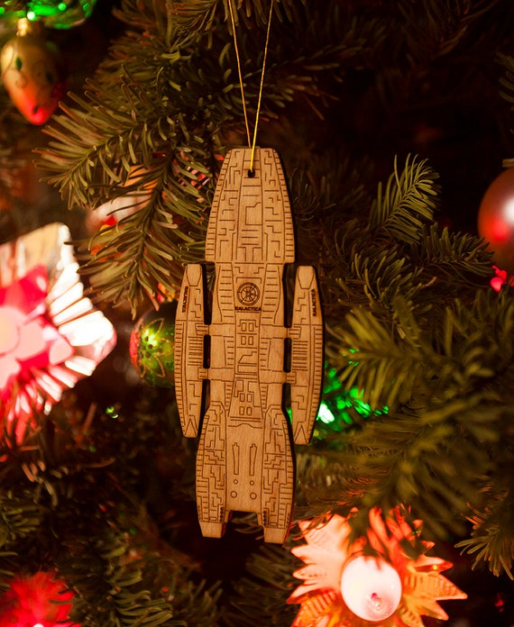 Battlestar Galactica Christmas Tree Ornament - Adama Starbuck Apollo Boomer  Cylon Raider BSG - Battlestar Galactica Christmas Tree Ornament Adama Starbuck Etsy