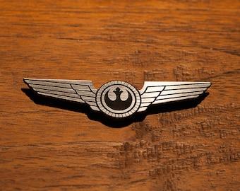 Star Wars Rebel Pilot Wings General Han Solo Luke Skywalker Leia Alliance New Republic Rieekan Dodonna Empire Strikes Back Cosplay