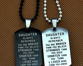 Loved Than Know Wife Valentine Gift Birthday Gift Necklace Name to My Tina Always Remember That I Love You Stronger Than Seem Smarter Than Think Love Husband Braver Than Believe