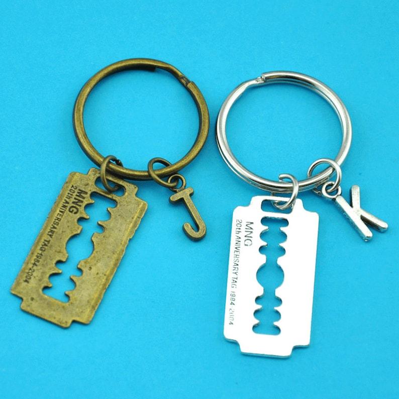 32a90737cac61 Retro Punk Razor Blade Letter Key Ring Best Friend Key Chain Lover Jewelry  -jt896-jy857