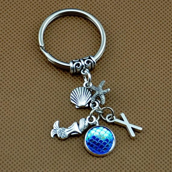 Sirène cotillons, cadeaux de fête de plage, porte-clé sirène, sirène échelle porte-clés, porte-clés sur le thème de plage,