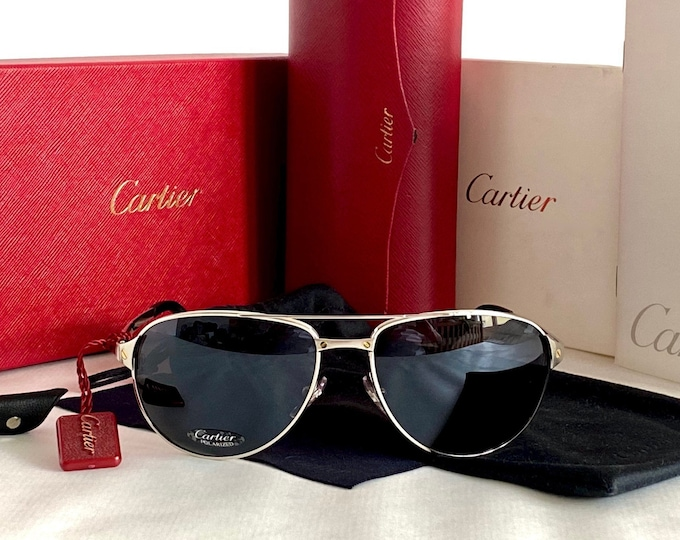 Cartier Edition Santos-Dumont Vintage Sunglasses – Full Set – New Old Stock