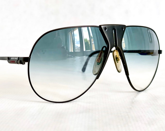 Boeing by Carrera 5701 Stealth Vintage Sunglasses – New Unworn Deadstock – Full Set – Made in Austria in 1985