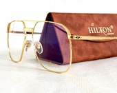 Hilton 24K Gold Plated Class 010 Eyeglasses New Made in Italy Including Case