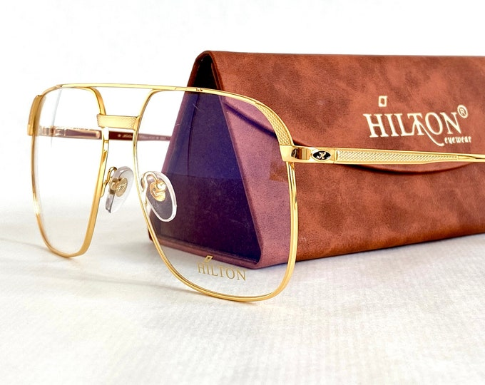 Hilton 24K Gold Plated Class 010 Eyeglasses – New – Made in Italy – Including Case