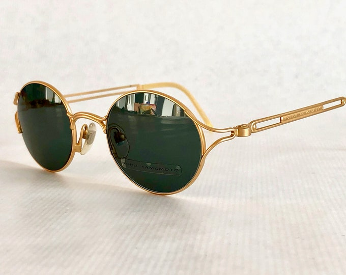 22k Gold Plated Yohji Yamamoto 51-4103 Vintage Sunglasses – New Old Stock – Made in Japan