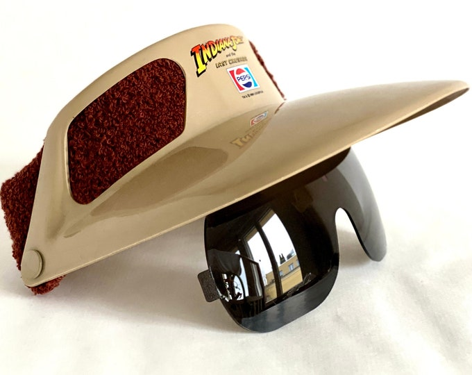 Vintage 1989 Indiana Jones And The Last Crusade Flip-Up Visor Sunglasses – New Old Stock – Made in the USA
