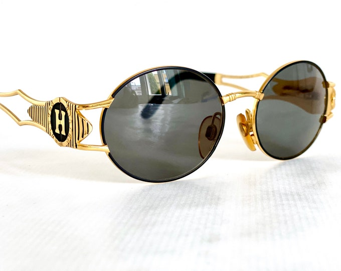 24K Gold Plated Hilton Picadilly 980 C1 Vintage Sunglasses – New Old Stock – Made in Italy