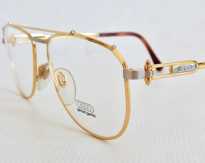 Gérald Genta «Gold and Gold» 24K Gold Plated Vintage Glasses New Old Stock