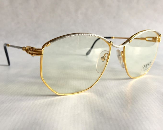 Fred Force 10 Cythere 22K Gold Vintage Eyeglasses Made in France New Old Stock including Case
