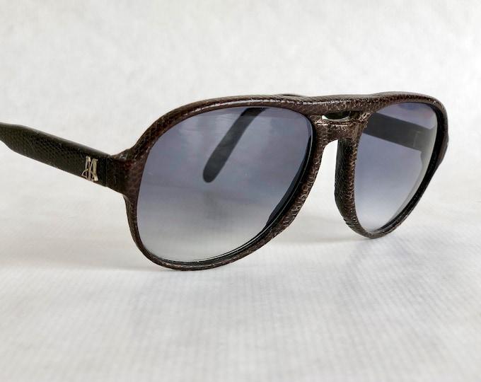 Maxim's de Paris 6475 Genuine Lizard Vintage Sunglasses Hand Made in France