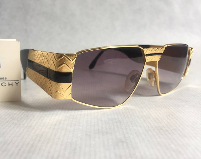 GIVENCHY 153 BLK Vintage Sunglasses - New Old Stock - Including Givenchy Softcase