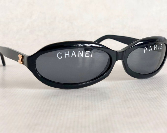CHANEL 01946 94305 Vintage Sunglasses – New Old Stock – Full Set Including Quilted Leather Case, Box and Cloth