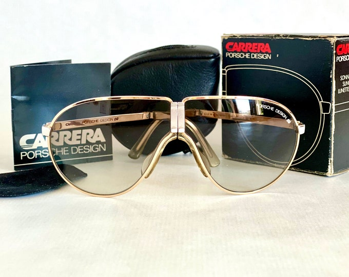 Vintage Porsche Design by Carrera 5622 Folding Sunglasses – First Edition Made in West Germany – Full Set – New Old Stock