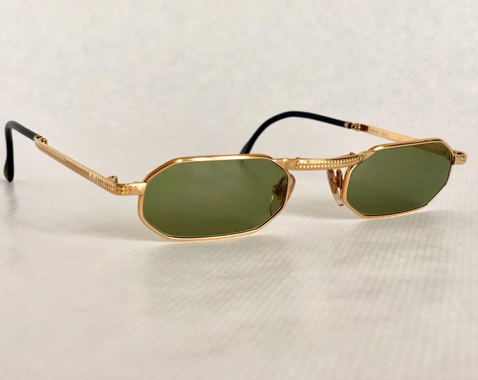 Boucheron 62810 Folding 24K Gold Plated Vintage Sunglasses New Old Stock including Softpouch