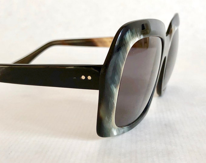 Ottico Michel Genuine Irish Horn Vintage Sunglasses New Unworn Deadstock
