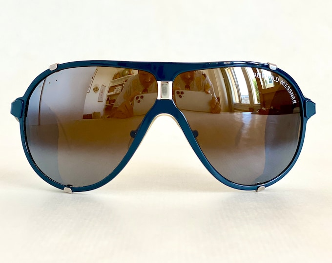 Vintage Reinhold Messner Cridalon Glacier Sunglasses – Made in West Germany – Full Set – New Old Stock