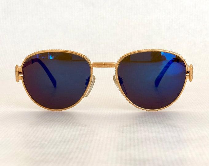 Gérald Genta Gefica 03 BR 24K Gold Plated Vintage Sunglasses Full Set New Old Stock