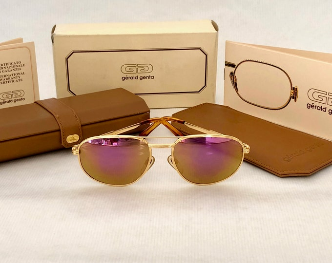 Gérald Genta New Classic 01 Vintage Sunglasses – 24K Gold Plated – Full Set – New Old Stock