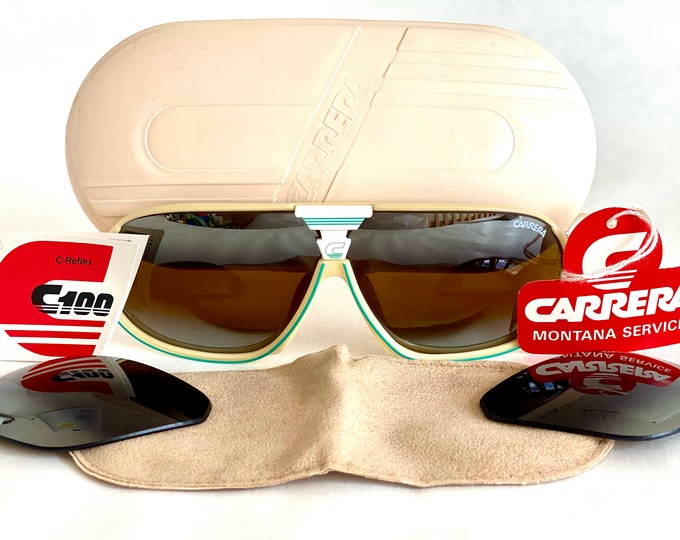Vintage 1980s Carrera 5416 70 Sunglasses – Full Set – New Old Stock – Made in Austria