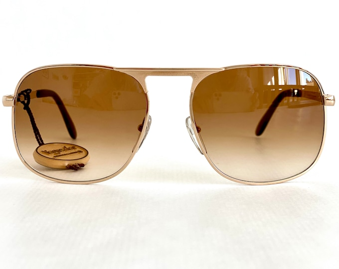 Vintage 1970s Bausch & Lomb Vogue d'Or 408 Sunglasses – Gold Filled – Made in West Germany – New Old Stock