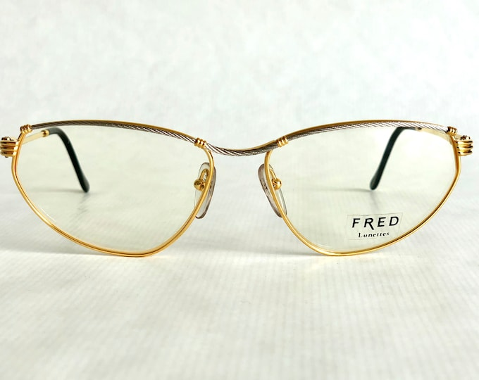 Fred Force 10 Alize 22K Gold Vintage Eyeglasses Gold Plated Made in France including Case