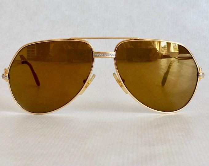 Cartier Vendôme «Grand Pavage» 22k Gold Custom Vintage Sunglasses Including Case & Papers