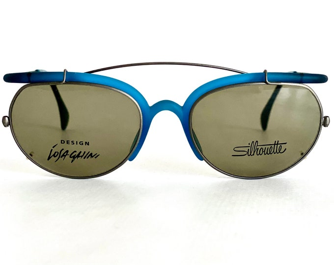 Vintage 1991 Massimo Iosa Ghini for Silhouette C2855 Clip-On Sunglasses – New Old Stock – Made in Austria