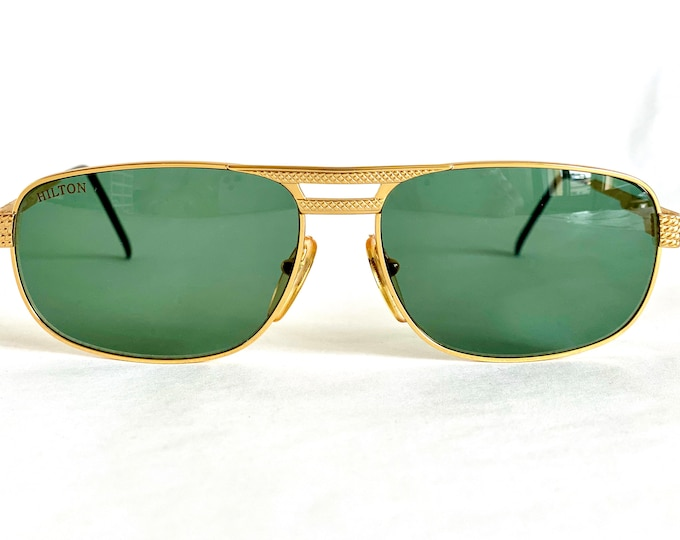 Hilton Club 1 Gold Plated Vintage Sunglasses – New Old Stock – Made in Italy