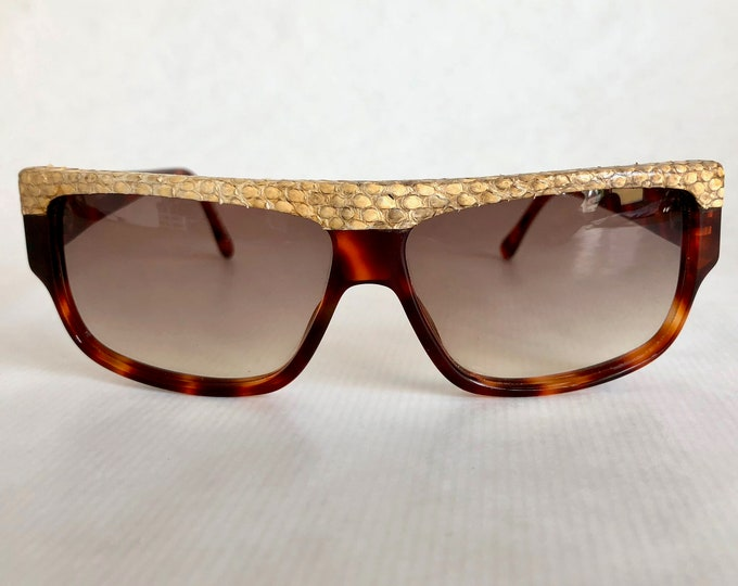Emmanuelle Khanh 10640 PT 18 Python Skin Vintage Sunglasses Made in France New Old Stock
