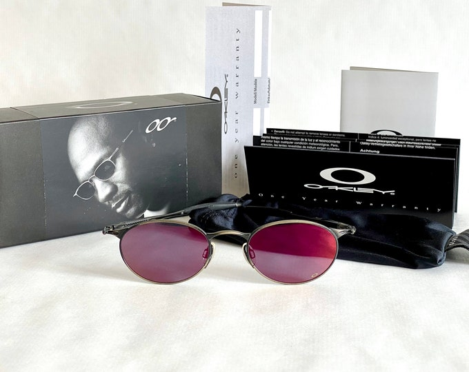 Michael Jordan's Vintage 1999 Oakley OO Black Powder Red Iridium Sunglasses – Full Set – New Old Stock