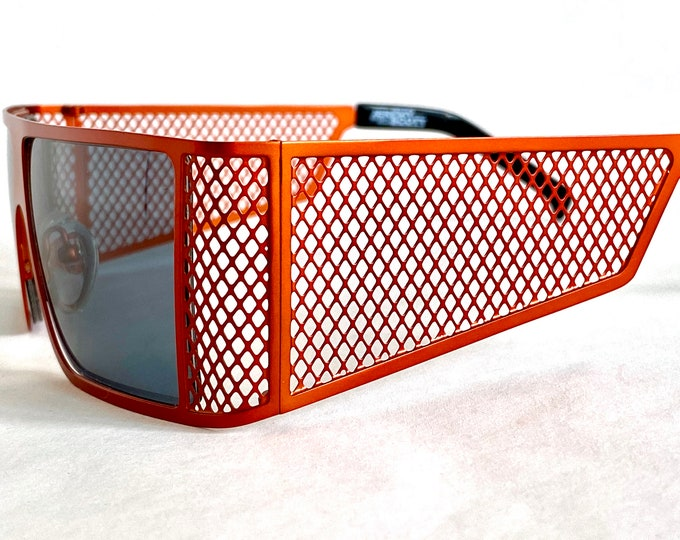 Jeremy Scott for Linda Farrow Corner Office Rust Vintage Sunglasses – New Old Stock – Including Softpouch