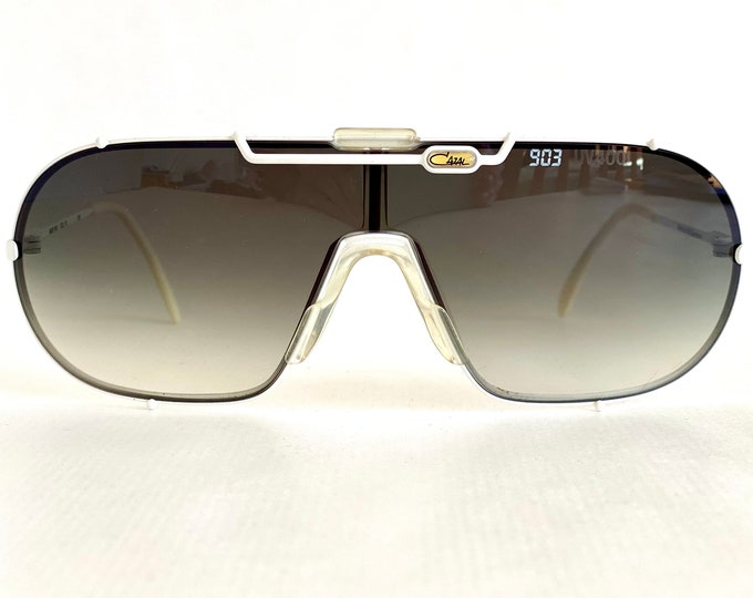 Vintage 1986 Cazal 903 Col 70 Sunglasses – Including Two Lenses, Cazal Glass Sign, Cazal Store Display – New Old Stock