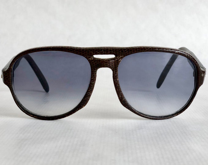 Maxim's de Paris 6475 Genuine Lizard Vintage Sunglasses Hand Made in France