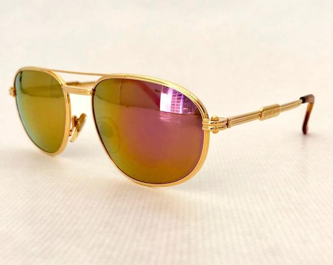 Gérald Genta New Classic 01 Vintage Sunglasses – 24K Gold Plated – Full Set – New Old Stock