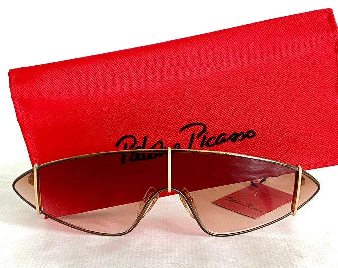 Grace Jones' Paloma Picasso 3728 46 Vintage Sunglasses – Including Case and Tag – New Old Stock