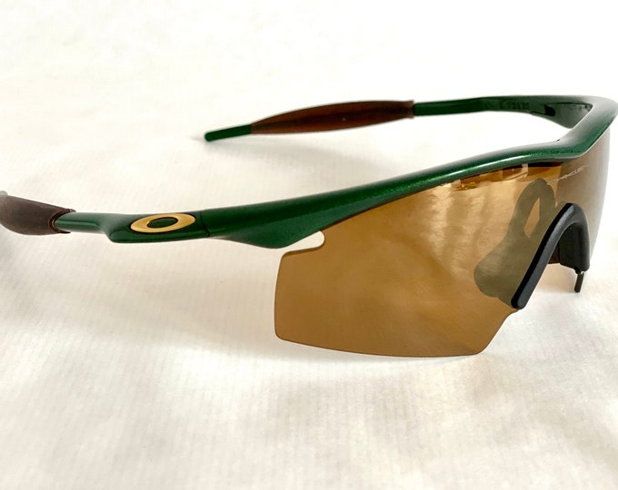 1994 Oakley M Frame Joker Gold Iridium Strike Vintage Sunglasses – Full Set Including Pro M Frame Slash Strap – New Old Stock