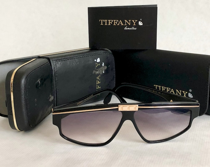 Tiffany TP/4 Vintage Sunglasses - 23K Gold Plated - New Old Stock - Full Set