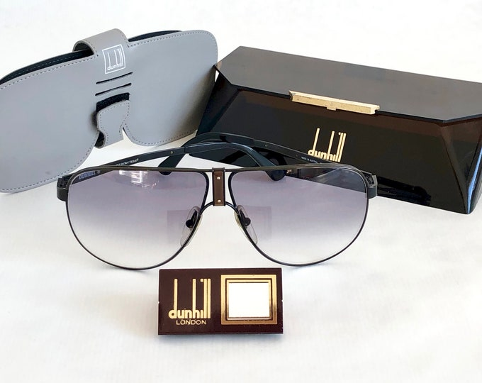 Dunhill 6043 Vintage Sunglasses – Genuine Horn – Including 2 Dunhill Cases & Tag – New Old Stock