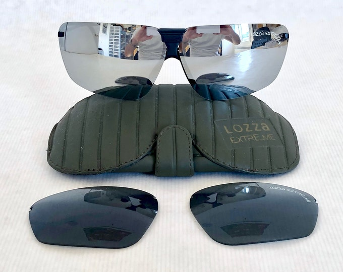 Lozza Extreme Vintage Sunglasses – New Old Stock – Including 2 Sets of Lenses and Case