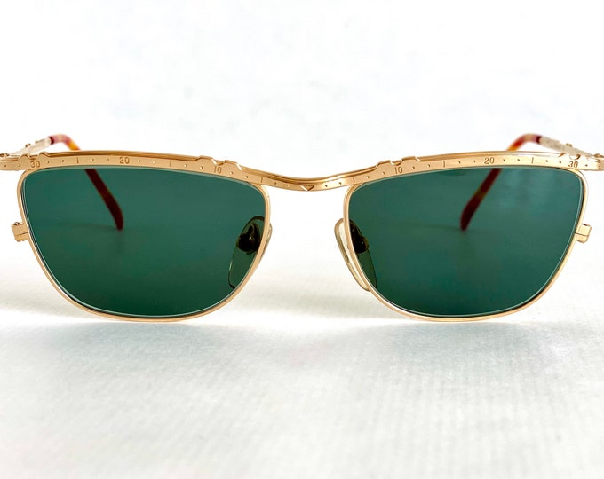 Vintage 22K Gold Plated JUNIOR GAULTIER 57 - 3174 Sunglasses – New Old Stock – Made in Japan in the 1990s
