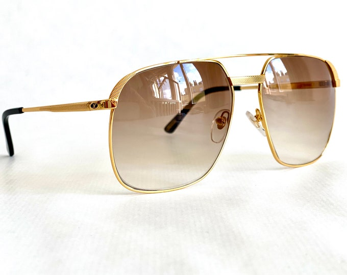 Vintage 1990s Hilton 24K Gold Plated Class 010 Sunglasses – New Old Stock – Made in Italy – Including Hilton Case