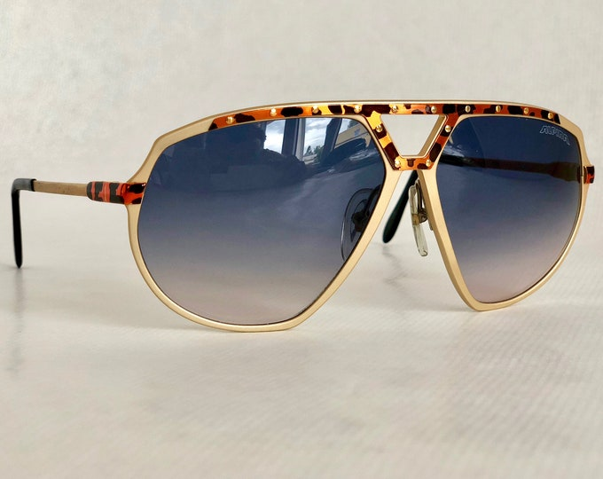 Alpina M1/8 24K Gold Vintage Sunglasses West Germany New Old Stock Full Set including Case, Box and Leaflet