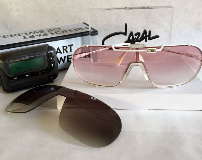 Cazal 903 Col 70 Vintage Sunglasses New Old Stock including 2 Lenses, Cazal Glass Sign, Cazal Display & 2 Pagers