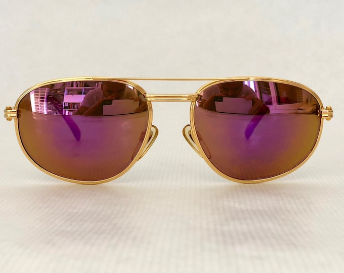 Gérald Genta 24K Gold Plated New Classic 01 Vintage Sunglasses Full Set New Old Stock
