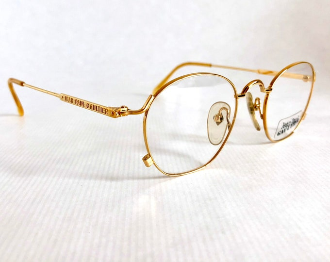 22K Gold Jean Paul GAULTIER 55 - 0171 Vintage Glasses NOS including Gaultier Case