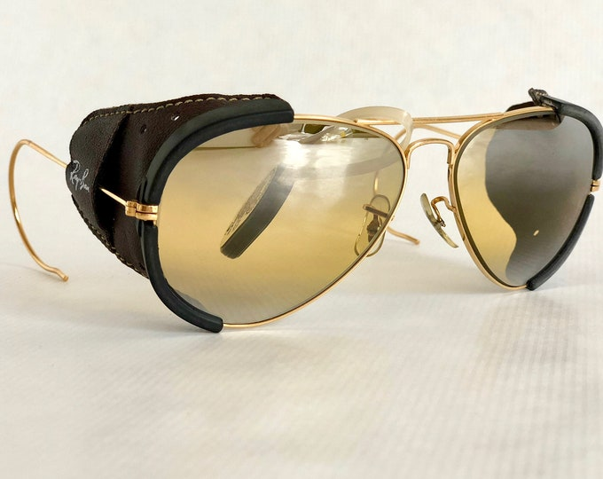 Ray-Ban by Bausch & Lomb Glacier Aviator Vintage Sunglasses Including Case New Old Stock