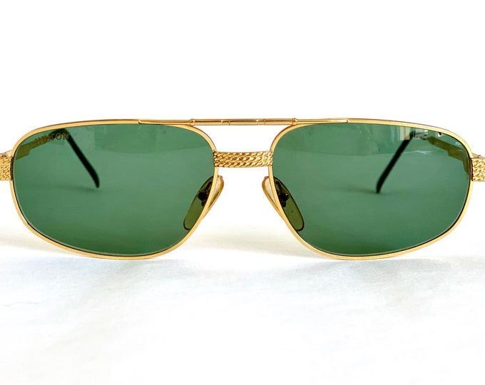 Hilton Club 2 Gold Plated Vintage Sunglasses – New Old Stock – Made in Italy