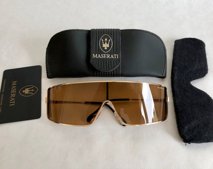 Maserati 6120 050 Vintage Sunglasses - Full Set - New Old Stock